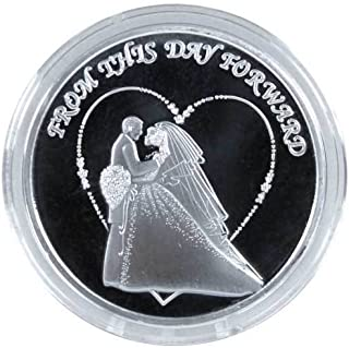 Wedding Commemorative Engravable Coin: .999 Fine Silver