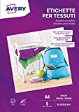 Etichette per tessuti bianche in seta acetata, stampanti Laser o scrivibili a mano - 63,5x29,6-5 ff