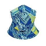 氷のようなフェイスマスクバンダナスカーフ防風ハンカチ防塵アンチスプレーUVアウトドア、フェスティバル、スポーツ用Seam Magic Turban(頭囲:54-58CM)