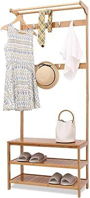 Amazon.com: MEIDUO Coat Rack with Bench, Double 4 Hooks and ...