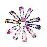 Bodhi200 0 1 Set Colorido Flor Leopardo Impresión Horquilla Metal Pasador para Adolescentes Niños Niños Niños