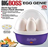Egg Genie by Big Boss, The Original Rapid Egg Cooker: 7 Egg Capacity Electric Egg Cooker for Hard Boiled Eggs, with Time & Auto Shut Off Feature – As Seen on TV