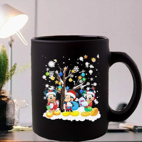 Lplpol Merry Christmas Mickey Mouse - Tazas de té con diseño de...