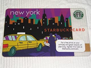 """2010 Starbucks Coffee Gift Card """"New York Taxi"""", no value on Card."""