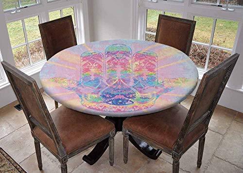 Ronde tafelkleed keuken decoratie, tafelblad met elastische randen, Diameter 67