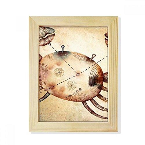 DIYthinker juni juli Kanker sterrenbeeld Zodiac Desktop Houten fotolijst Picture Art Schilderen 6X8 Inch