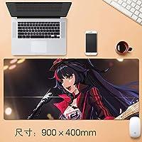 クリエイティブ落書きアニメHonkaiインパクト3マウスゲーミングマウスマットパッドカスタムプロフェッショナルグラフィティマウスパッドステッチはデスクカバー、コンピュータのキーボード、PCおよびラップトップ90 * 40センチメートルについて、理想のエッジ (サイズ : Thickness: 4mm)