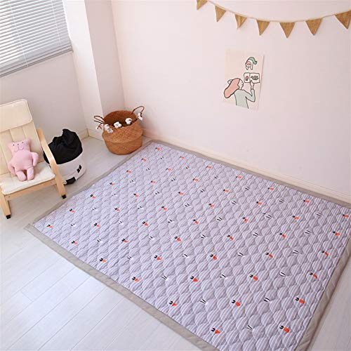 Review Insun Washable Cotton Qualited Non Slip Cute Tatami Area Rug Baby Sleep Mat Play Mat Thick La...