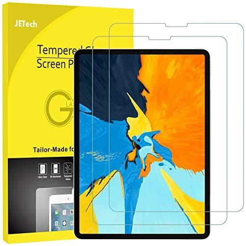 JETech 2 Stück Schutzfolie für iPad Pro 11 Zoll (2018 Veröffentlichung Kante zu Kante Liquid Retina Bildschirm), Gehärtetem Glas Panzerglas Bildschirmschutzfolie