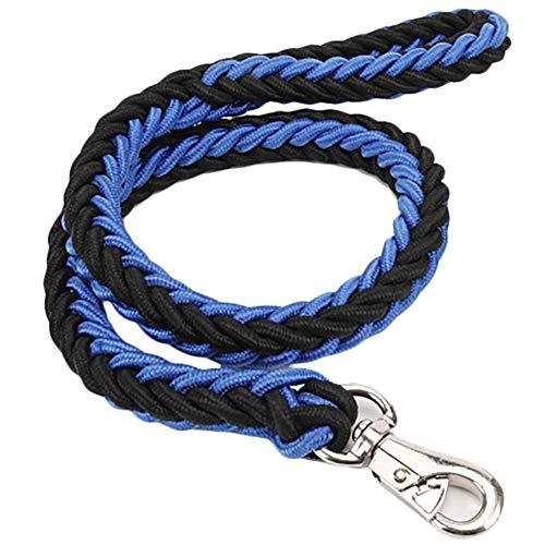 Demarkt Hondenlijn, huisdiertouw met comfortabele greep hondenriem accessoire nylon linnen riem voor outdoor-walking duurzaam touw twist Lead in sterk trekken ondersteuning
