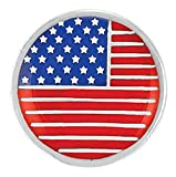 Ginger Snaps ENAMEL USA FLAG SN04-30 Interchangeable Jewelry Snap Accessory
