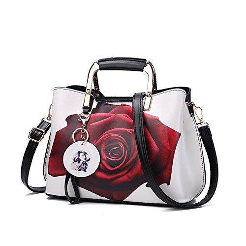 Soft PU Leather, waterproof, easy to clean and maintain, long-wearing. High quality RUSTLESS metal zippers&rings, shiny & luxury looking. Top handle and Shoulder strap are available, can be used as handbag and Shoulder bag. Largy interior Space, room...
