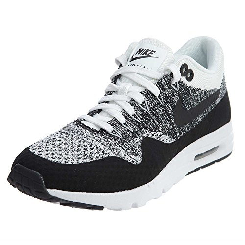 Nike Air Max 1 Ultra Flyknit Women's Running Shoes White/Black 843387-100 (5 B(M) US)