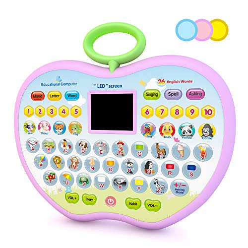 Eala Birthday Gift for Girls Kids, Education Computer Toys Age 1 2 3 Boys Toddlers Tablet Toys Gift Age 2 3 4 Childrens Girls Learning Toy for 2-4 Year Old Girls