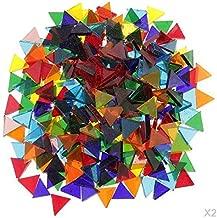 Healifty 1 Ensemble Miroir Carreaux de Mosa/ïque Auto-Adh/ésif Carreaux de Mosa/ïque en Verre Carr/é Mini Verre Carr/é pour Bricolage Artisanat 10X10x4mm