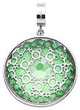 JEWELS BY LEONARDO Damen-Anhänger & clips Edelstahl Novita Darlin's Glas klar vert silber...