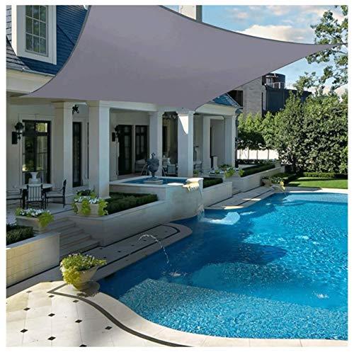 Toldo de toldo para jardín, rectangular, impermeable, protección UV, protección solar, toldo, pérgola, patio, exterior, interior, terraza, natación, camping (tamaño: 5 x 6 m, color: gris)