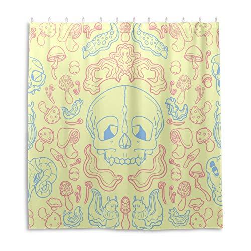 Duschvorhang für Badezimmer, Pastellfarben, Süßigkeiten-Duschvorhänge aus Stoff, langlebig, wasserdicht, mit 12 Haken