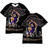 hengGuKeJiYo Camiseta De Sudadera para Niños Camiseta De Baloncesto para Hombres Y Mujeres, Lakers 8# Kobe Bryant Loose Jersey Pullover Camiseta Crop Tops