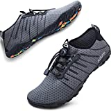 SIMARI Mens Womens Water Shoes Sports Quick Dry Barefoot Diving Swim Surf Aqua Walking Beach Yoga 209 Gray 10.5W/9.5M