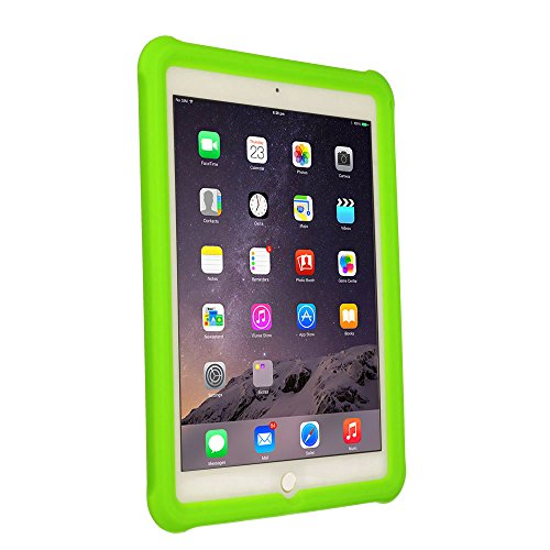 TECHGEAR Schutzhülle für iPad Air 2 (9,7 Zoll) [Kinderfreundlich] Leichtes Koffer Silikon Soft Shell Anti-Rutsch-Shockproof verstärkte Ecken + Displayschutzfolie, hülle für iPad Air 2 (9,7) -Grün