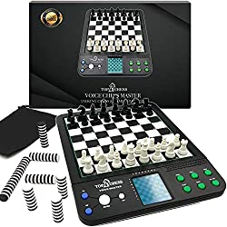commercial Top 1 Chessboard Game, Electronic Voice Chess Academy Classic 8 in 1 Computer Voice… learning chess set
