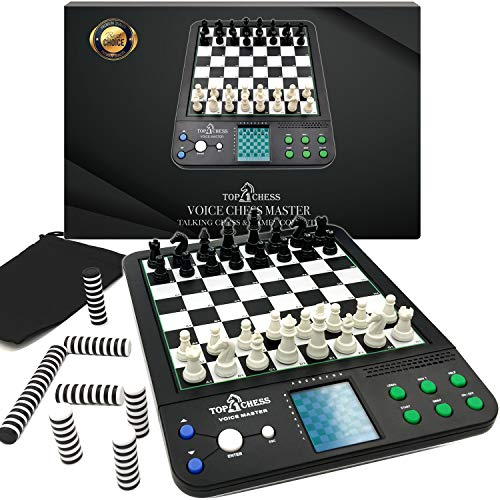 Top 1 Chess Set Board Game, Voice Chess Academy Classical Game, 8 In1 Computer Voice Teaching System, Teaching Chess Strategy for Chess Lovers
