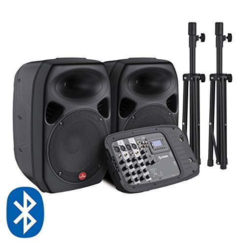 Steren BAF-520BT Sist Portátil de Audio 2000W C/Mezc USB/SD