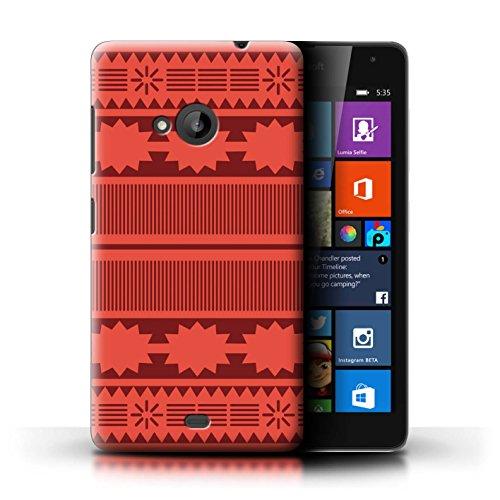 Stuff4 Hülle/Case für Microsoft Lumia 535 / Aztek/Prinzessin Kleid Muster/Karikatur Polynesische Prinzessin Kollektion