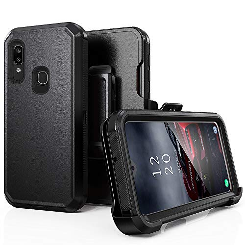 Samsung Galaxy A20S case,Heavy Duty Hard Shockproof Protector Shield Case Cover with Belt Clip Holster for Samsung Galaxy A20S Phone (Black)
