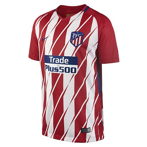 Nike Kinder Breathe Atletico Madrid Stadium Trikot, Sport Red/White/Deep Royal Blue, M