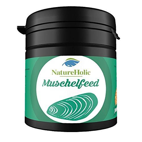 NatureHolic - Muschelfeed Muschelfutter - Futter für Süßwasser & Salzwasser Muscheln im Aquarium - 30 g