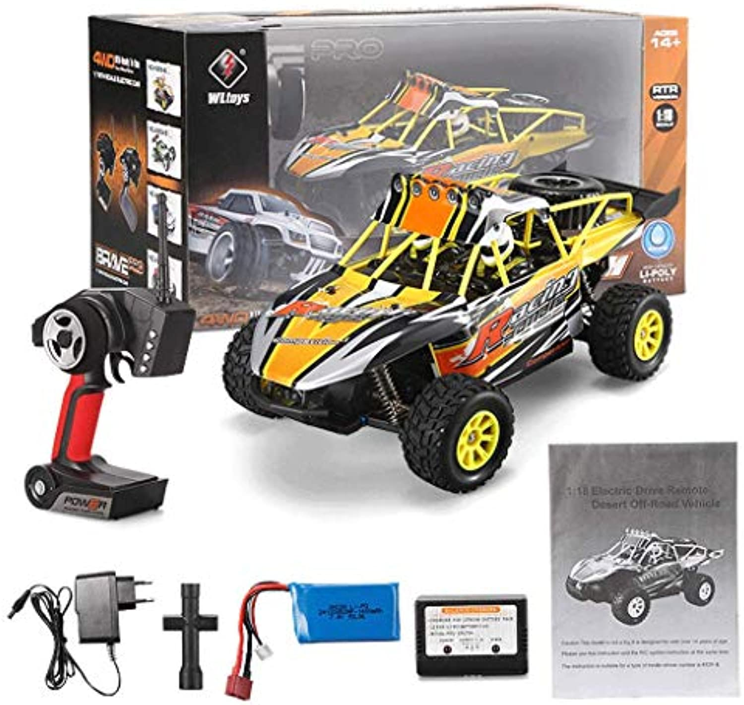 RC Auto Top Race Fernbedienung Auto Racer RC Monster Truck 4WD 2,4 GHz 1  18 70 km h Off Road Hochgeschwindigkeits-Mountain Truck