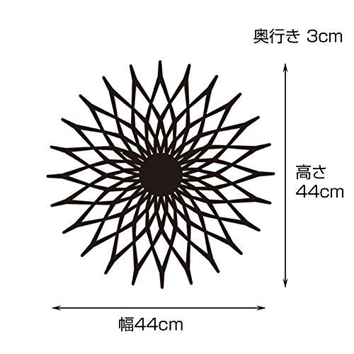 インターフォルム時計掛け時計ブラック幅44×高さ44×奥行3NoaleノアーレCL-3022BK