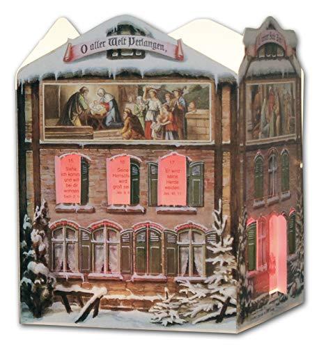 Kollektion Reuter Adventskalenderhäuschen, Karton, Mehrfarbig, Einheitsgröße