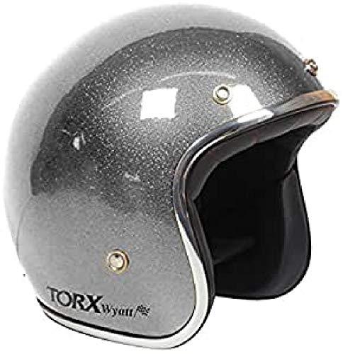 TORX Casco Moto Wyatt Shiny White: M