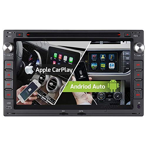 Android 10.0 Dual-Tuner Autoradio Eingebautes Android Auto+CARPLAY 2G+32GB Rohm-DSP Bluetooth 5.0 DVD GPS Navigation Für VW Golf 4 Passat B5 Polo Sharan Bora T5 Transporter Lupo DAB+ WiFi AUX