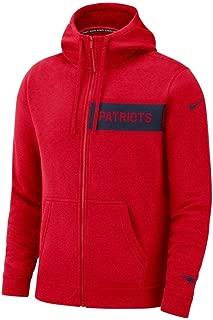 Men's New England Patriots Full Zip Fleece Club Hoodie