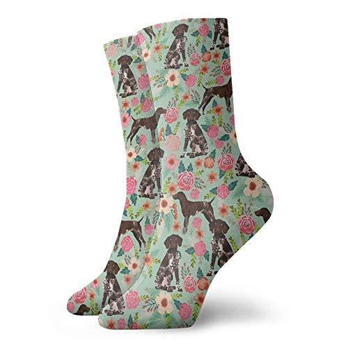 Calcetines de algodón unisex con diseño de perro de puntero alemán de pelo corto, regalos para amantes de los perros, calcetines personalizados, calcetines deportivos deportivos, calcetines para
