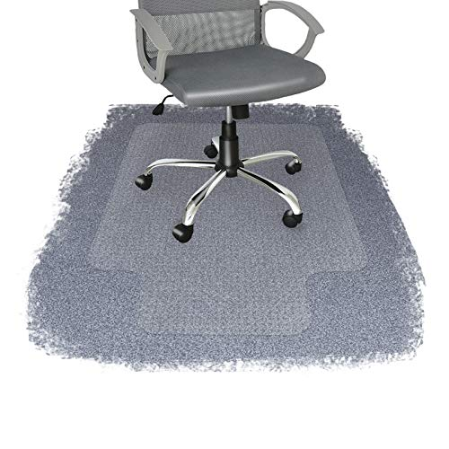 Office Marshal Chair Mat with Lip for Carpet | Eco-Friendly Series Chair Floor Protector | 100% Recycled (PET) Floor Mat for Office or Home Use | Multiple Sizes | Translucent - 36'' x 48''