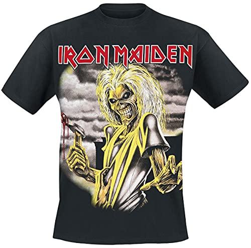 Iron Maiden Killers Hombre Camiseta Negro XL, 100% algodón, Regular