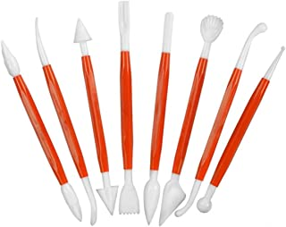 Katzco Cake Decorating Supplies - Set of 16 Fondant and Gumpaste Modeling Tools - Perfect for Fondant Flower Making, Modelling Mold, Sugarcraft Tool, Clay Sculpting on Weddings, Birthdays