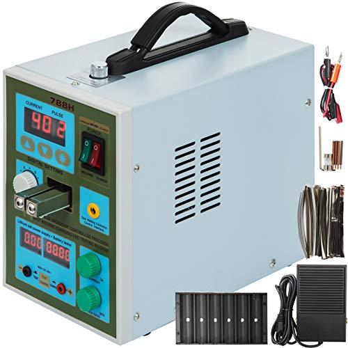 VEVOR Punktschweißgerät 788H 2 In 1 LED Puls Batterie Spot Schweißer Schweißnaht 18650 Ladegerät 60A