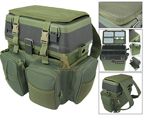 Roddarch Fishing Seat Box & Rucksack. Fly Sea Coarse Fishing Seat Backpack.