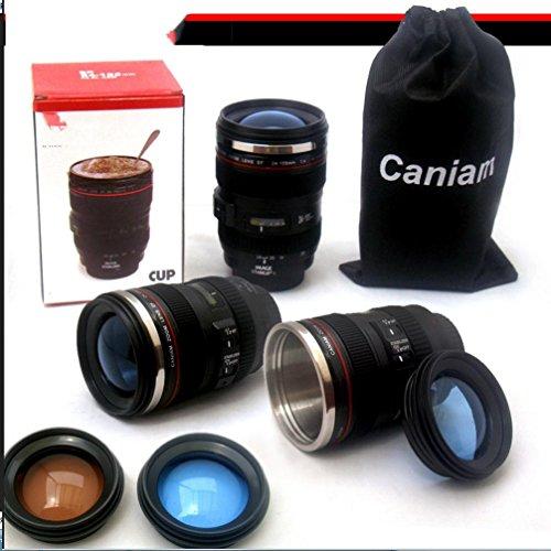 WYFC lens glas metalen tank camera mok thermische koffiehaver
