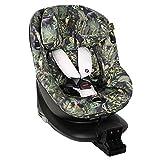 UKJE Fundas de asiento de coche algodón Oeko-Tex Maxi-Cosi Mica hasta 4 años para mantener el asiento de coche de bebé limpio, reducir la sudoración color selva