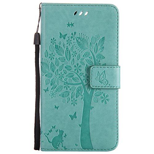 Tiga Shopping OnePlus 5 (A5000) Flip Cuero Funda Cuero de la PU/Stent/Billetera/Paquete de Tarjetas/Proteccion Caso Cubrir para OnePlus 5 (A5000)(Verde)