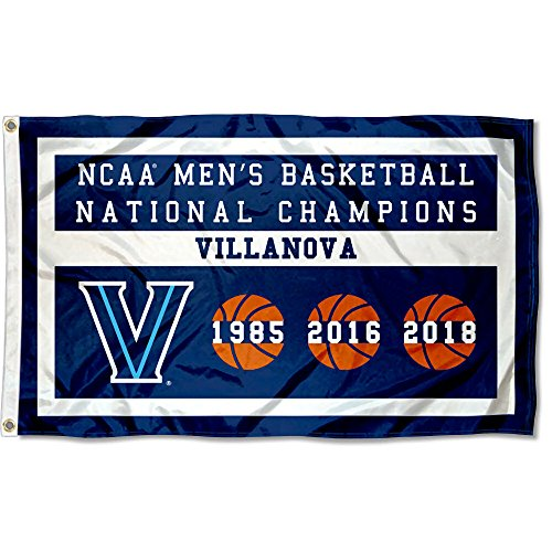 College Flags & Banners Co. Villanova Wildcats Three Time Basketball National Champions Flag