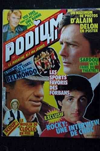 PODIUM HIT 135 mai 1983 incomplet BELMONDO Alain DELON SARDOU Les FORBANS ROCKY