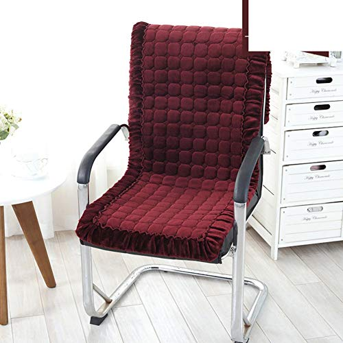 Kussen voor dikke stoelen van kasjmier, kussen van pluche, voor herfst/winter, kantelbare stoel met rugleuning, kussen bureaustoel, kleur mat, antislip, zitting: I 50 x 145 cm (20 x 57 inch)